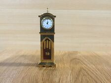 Brass Mantle Top Miniature Grandfather or Tall Case Clock Model
