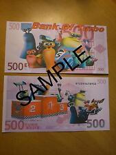 Turbo Dreamworks Novedad 500 Euro Banco Note Billetes De Cumpleaños, Regalo De Navidad
