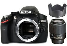 Nikon D3200 24.6 MP CMOS DSLR + Nikkor 55-200mm f/4-5.6 AF-S DX Zoom Lens