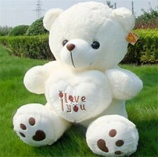 Valentine Lovely Large Bear plush teddy Dolls holds pretty I LOVE YOU heart 70cm
