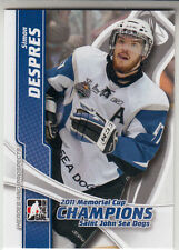 2011-12 ITG Heroes Prospects - 2011 MEMORIAL CUP CHAMPIONS - Simon Despres