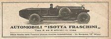 W9159 Automobili ISOTTA FRASCHINI - Pubblicità del 1923 - Vintage advertising