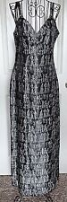 Egyptian Hieroglyphic Brocade Tapestry Maxi Dress Evening Gown Lined Size Medium