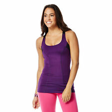 Zumba Break Beat Built-In Bra Tank - Purple NWT - Size M Medium