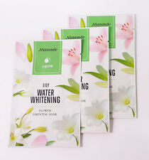 [MAMONDE] Flower ESSENTIAL Mask 3PCS (Lily / Water Whitening) - Korean Cosmetics