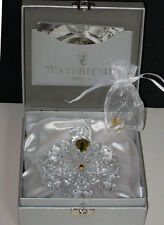 waterford SNOWFLAKE WISHES 2014 Wishes For Peace ORNAMENT - New Boxed
