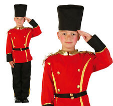 Childrens British Queens Guard Fancy Dress Costume Boys Soldier Outfit Childs L