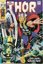 The Mighty Thor Comic Book #160, Marvel Comics 1969 VERY FINE-