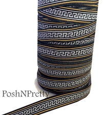 Tribal 3 Yards 5/8 Print Fold Over Elastic FOE - Style D
