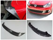 FOR CARBON FIBER  10-13 VW Golf VI MK6 R20 GTI REAR WING TRUNK SPOILER+Front Lip