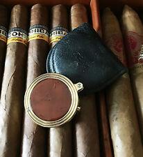 Davidoff Round Cutter, Zigarren Bohrer, China Lack, laqué brun , UVP € 319,--