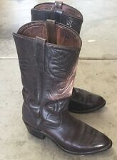 RED WING Cowboy Western Boots Brown 7.5 7 1/2 M Medium Men's Rare Leather VTG