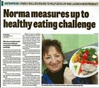 Be smart, portion control,healthy eating gauge with height control, eat healthy