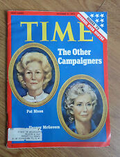 1972 Time Magazine The Other Campaigners Pat Nixon & Eleanor McGovern