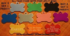 Custom Engraved Dog Tag Pet ID WITH FREE SHIPPING with free split ring