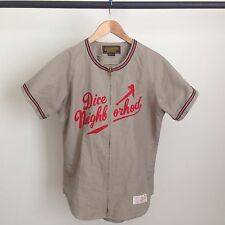 NEIGHBORHOOD X DICE BASEBALL JERSEY ZIP UP JAPANESE NBHD MLB VINTAGE M