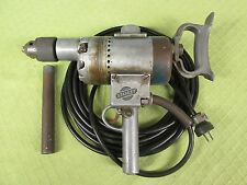 Large Vintage 1930s Stanley Electric Drill Tested, Works
