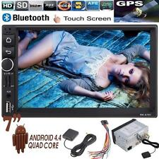 "Android 4.4 Double 2Din HD 7"" Car Stereo GPS Navi MP5 MP3 Radio Player Bluetooth"