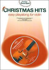 Violín Navidad hits canciones villancicos fácil Empaste Guest Spot Libro Y Cd S/sucias