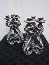Marius Giuge Vallauris chandeliers céramique stylisé décor coulée lave vers 1960