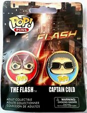Funko TV Series The Flash & Captain Cold Adult Collectible 1.25in. POP Pins,2 Pk