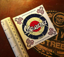 VESPA  STICKER, SELF ADHESIVE + FREE MINI LOGO STICKERS ON SHEET! Awesome print!