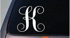 """LETTER K 6"""" monogram sticker decal truck car window teach craft initials *D782*"""