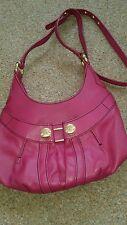 Ladies  pink handbag leather used once bought from T K Max 18..00 shoulder strap