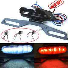 Motorcycle ATV License Plate Holder LED Tail Rear Brake Bracket Light Lamp 12V