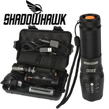 5000lm Genuine Shadowhawk X800 Tactical Flashlight LED Zoom Military Torch G700