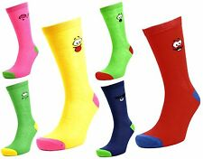 Tom Franks 6 Pairs of Mens Smiley Face Character Socks 7-11