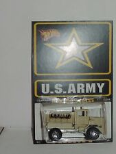"Hot Wheels CUSTOM MILITARY TRUCK ""U.S.Army"" Real Riders LTD 1/5 New !!!"