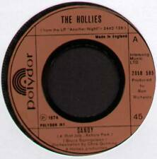 "HOLLIES ~ SANDY / SECOND HAND HANG-UPS ~ 1974 UK 7"" SINGLE ~ POLYDOR 2058 595"