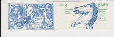 GB QEII MNH FOLDED Stamp Booklet FO1B POSTAL HISTORY # 8 SEAHORSE HIGH VALUES