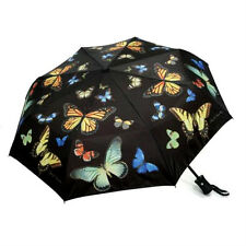 Butterfly Black Compact Auto Open & Close Umbrella 44""