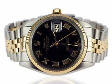 Rolex Oyster Perpetual Datejust 16000 Stahl Gold Automatik Herren Armbanduhr 36m