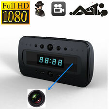 HD 1080P SPY Hidden Camera Clock Remote Night Vision Motion Detection Mini DV FF