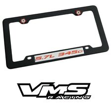VMS 1 BLACK LICENSE PLATE FRAME FOR DODGE CHRYSLER 5.7 345CI RDSL
