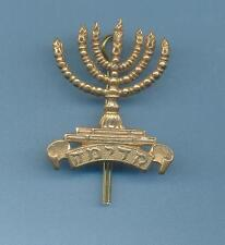 ROYAL FUSILIERS JEWISH BATTALION.BRASS ARMY CAP BADGE