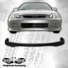 For 1999-2000 Honda Civic Black PP Polypropylene Type R Style Front Bumper Lip