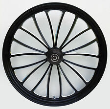 "Manhattan ""Black Cut"" CNC 23"" x 3.5"" Front Wheel for Harley & Custom Models"