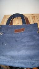 Abercrombie & Fitch Blue Cotton Canvas Tote Bag Satchel Messenger A+F irregular