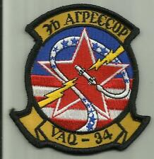 VAQ-34 U.S.NAVY PATCH Tactical Electronics Warfare sq Skywarrior AIRCRAFT PILOT