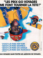 PUBLICITE ADVERTISING 054  1987  GO  VOYAGES   PARIS-USA