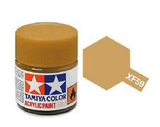 Tamiya 81759 XF-59 Desert Yellow 10ml Acrylic Flat Paint Color Mini Bottle Model