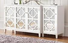 Serena & Lily Replica Moroccan White & Mirrored Cabinet Console Buffet