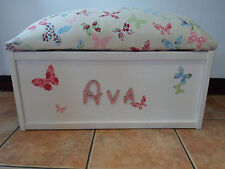 Personalised Handmade toy box storage Christmas Gift Large Chest Butterfly