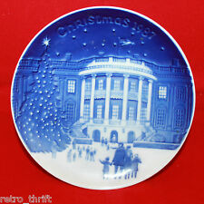 B&G Bing and Grondahl 1987 Christmas in America Mini Plate 13cm White House Rare