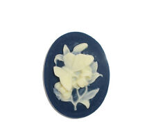10 Resin POP Flower Oval Cameo Embellishment Findings