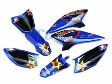 ROCKSTAR GRAPHICS DECAL BLUE PLASTIC KIT YAMAHA TTR50 50 P DE44+